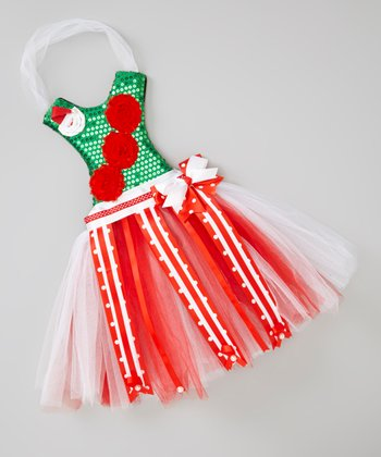 Red & Green Tutu Clip Holder