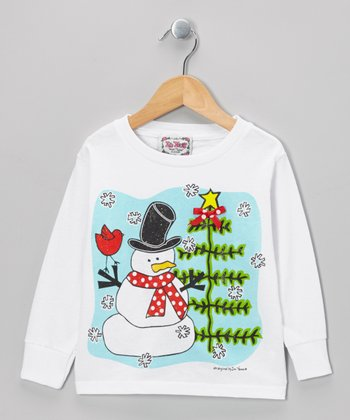 White Snowman Tee - Toddler & Kids