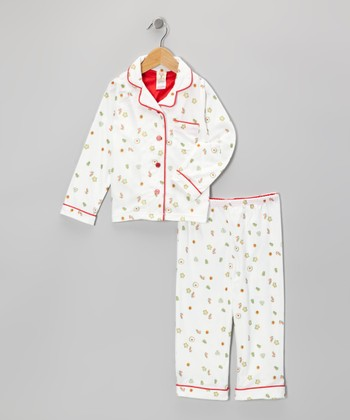 White Christmas Cookies Pajama Set - Infant, Toddler & Kids