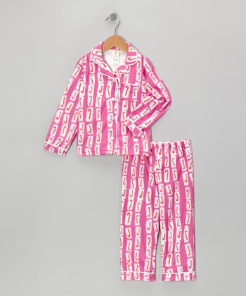 Pink Candy Cane Pajama Set - Infant, Toddler & Girls