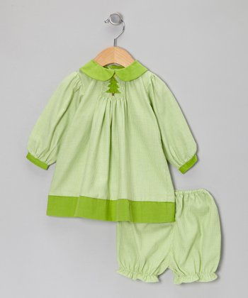 Lime Gingham Smocked Dress & Bloomers - Infant & Toddler