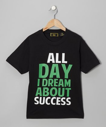 Black 'All Day I Dream' Tee - Boys