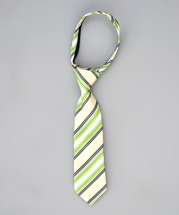 Lemon & Lime Stripe Tie - Infant