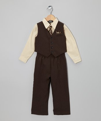 Brown & Corn Vest Set - Boys