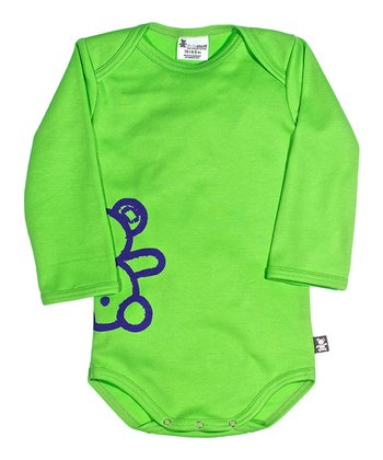 Green Eddy the Teddy Organic Bodysuit - Infant
