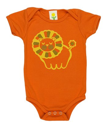Orange Lion Organic Bodysuit - Infant