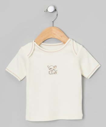 Ecru & Brown Elephant Organic Tee - Infant