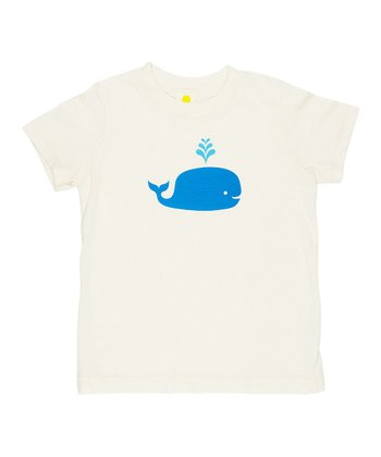 Natural Whale Organic Tee - Toddler