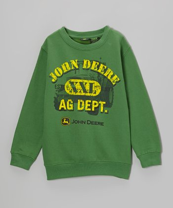 Green 'Ag Dept.' Sweatshirt - Boys