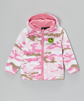 Pink Camo Branded Zip-Up Hoodie - Infant