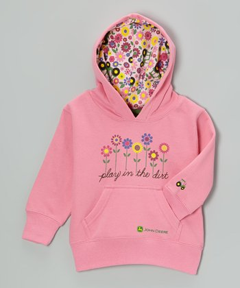 Pink 'Play in the Dirt' Hoodie - Toddler