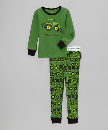 Green Tractor Pajama Set - Infant, Toddler & Boys