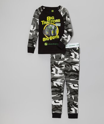 Black Camo 'Big Tractors' Pajama Set - Infant