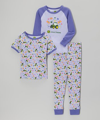 Light Purple Butterfly Pajama Set - Infant & Toddler