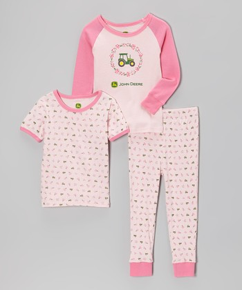Light Pink Flower Pajama Set - Infant & Toddler