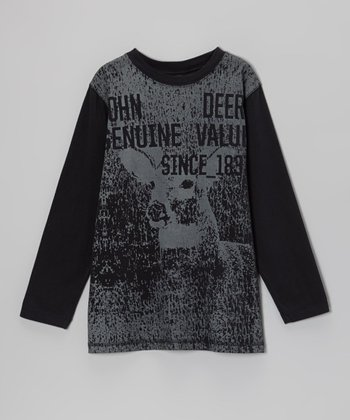 Black 'Genuine Value' Long-Sleeve Tee - Boys