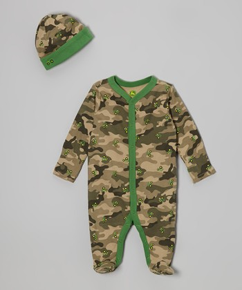 Camo Tractor Footie & Beanie - Infant