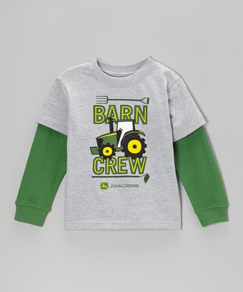 Heather Gray 'Barn Crew' Layered Tee - Toddler