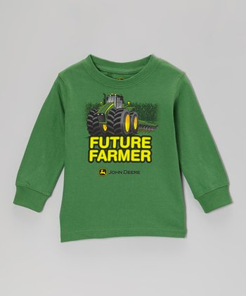 Green 'Future Farmer' Long-Sleeve Tee - Infant