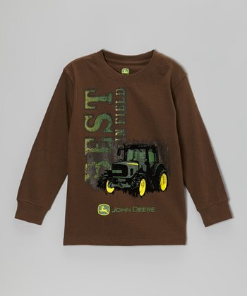 Brown 'Best in Field' Long-Sleeve Tee - Boys