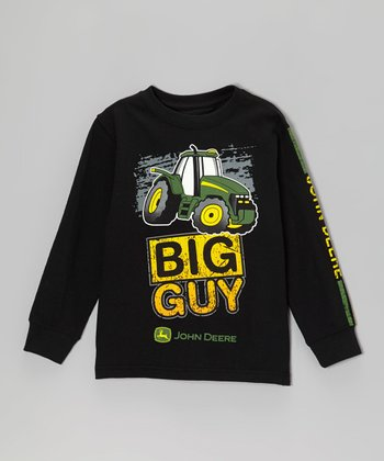 Black 'Big Guy' Long-Sleeve Tee - Boys