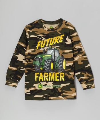 Camo 'Future Farmer' Long-Sleeve Tee - Boys