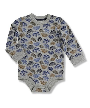 Gray Monster Truck Bodysuit - Infant
