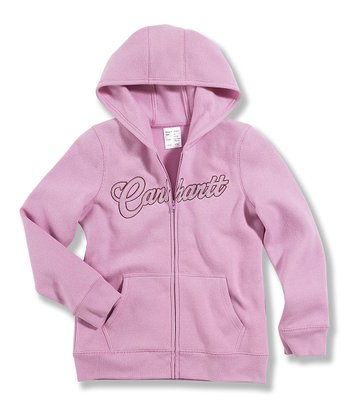 Pink Fleece Zip-Up Hoodie - Girls