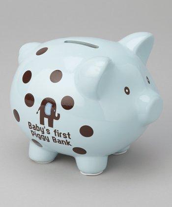 Baby Essentials Blue 'Baby's First' Piggy Bank