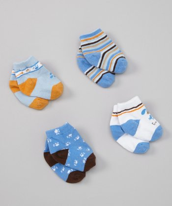 Blue Puppy Socks Set