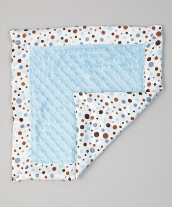 Blue Dot Minky Satin Security Blanket