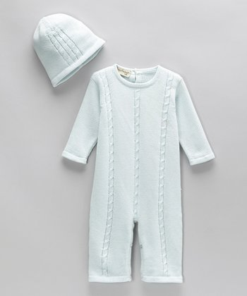 Mason Blue Romper & Beanie - Infant