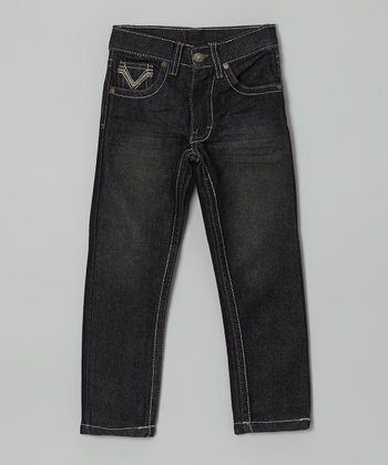 Denim Blue Straight-Leg Jeans - Boys