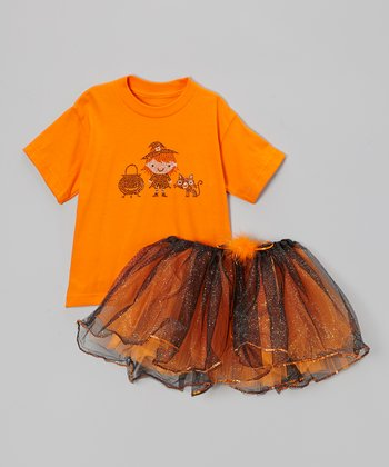 Orange Witch Tee & Tutu - Toddler & Girls