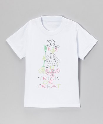 White 'Trick or Treat' Tee - Toddler & Girls