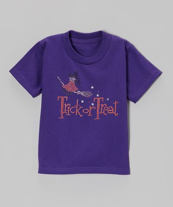 Purple 'Trick or Treat' Tee - Toddler & Girls