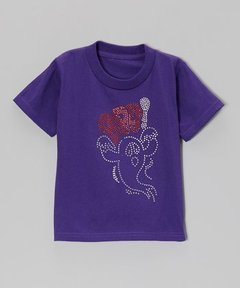Purple 'Boo' Tee - Toddler & Girls