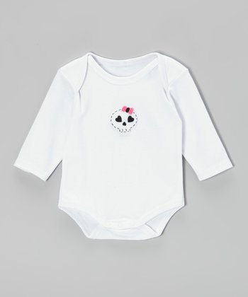 White Skull Bodysuit - Infant