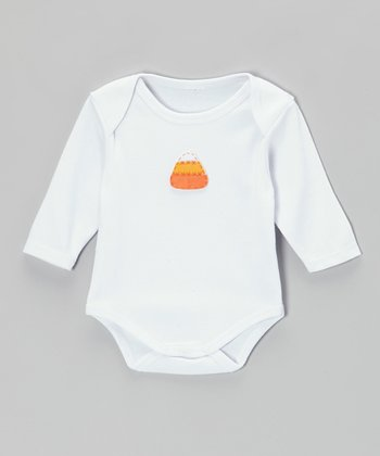 White Candy Corn Bodysuit - Infant
