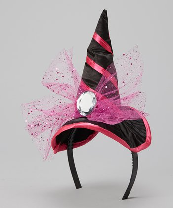 Hot Pink Witch Hat Headband