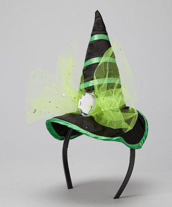 Green Witch Hat Headband