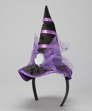 Purple Witch Hat Headband