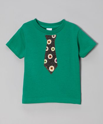 Teal Eyeball Tie Tee - Toddler & Boys