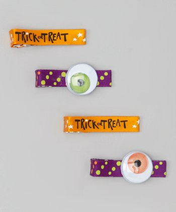Eyeball & Trick-or-Treat Clip Set