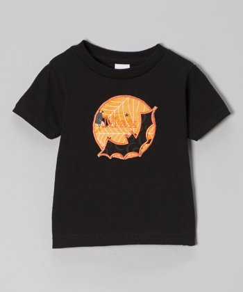Black & Orange Bat Personalized Tee - Infant, Toddler & Boys