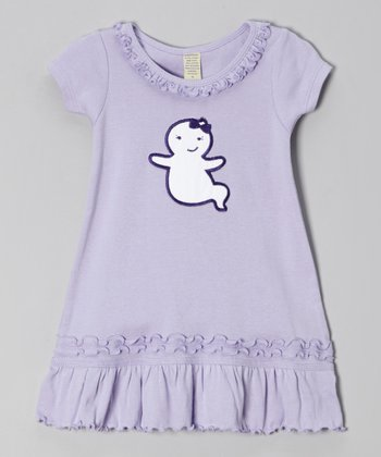 Lavender Ghost Ruffle Dress - Infant, Toddler & Girls