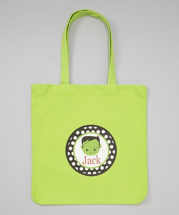 Lime Boy Monster Personalized Tote