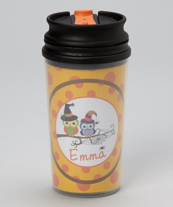 Yellow Owl Personalized Tumbler