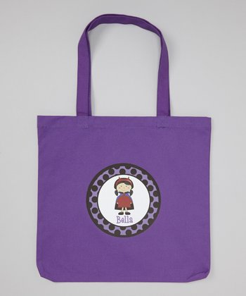 Purple Girl Dracula Personalized Tote