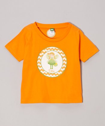 Orange Blonde-Haired Fairy Personalized Tee - Infant, Toddler & Girls